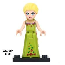 Custom Minifigure Disney Princess Elsa Green Dress