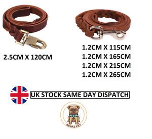Braided Handmade Leash Genuine Leather Dog Leads Dog Training UK Stock 5 Sizes