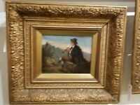 Antique 19th Century SIGNED Oil Painting on board
