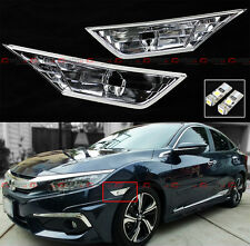 FOR 16-2020 10TH HONDA CIVIC RS STYLE CLEAR LENS BUMPER SIDE MARKER LAMPS LIGHT