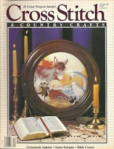 Cross Stitch and Country Crafts November December 1988 36 Projects
