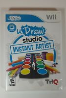 uDraw Studio: Instant Artist - Nintendo Wii Game - Complete with Inserts 👀💎