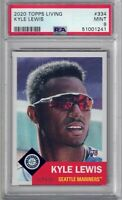 KYLE LEWIS 2020 Topps Living Set /5617 #334 PSA 9 Rookie RC
