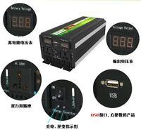 3000 Watt 12V Battery Power Inverter+Battery Charger&UPS DC to AC Car, RV, Solar