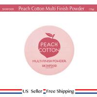 Skinfood Peach Cotton Multi Finish Powder 15g sebum + Free Sample [ US Seller ]
