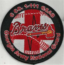 US ARMY C CO 1-111 GSAB  PATCH-      'BRAVES'    GA ARMY NG DUSTOFF       DESERT