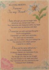 Memorial Grave Card In Loving Memory Forever In My Heart 15cm x 10.5cm