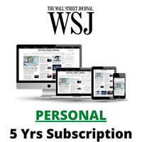 Wall Street Journal WSJ 5Years 🔑PERSONAL🔑 Digital Subscription All Platforms