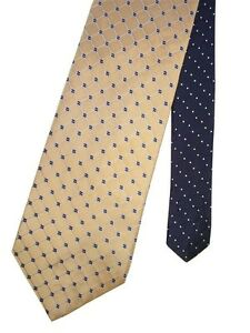 "Tommy Hilfigner Men's Neck Tie Plaid Beige Blue Wide 3 3/4"" x 56 1/2"""