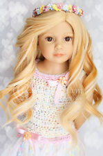8-9 DOLL WIG Butterscotch Red ~ Wellie Wishers, Kidz n Cats ~ HEAT SAFE 350! ©BC