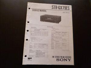 Original Service Manual Schaltplan  Sony STR-GX79ES