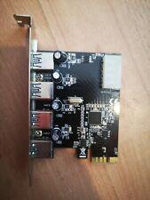 usb3 4 port pci x1  power molex