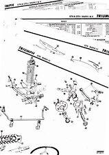 TRIUMPH GT6 GT6+ MARK I II III BODY PARTS LIST CRASH SHEETS MOFRE