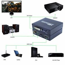 HDMI to DVI DVI-I with Audio 3.5mm Coaxial Output Video Converter 1080P for HDTV