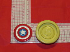 America Hero Shield Silicone Mold 304 candy Chocolate Resin fimo