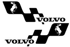 VOLVO cabalgando Moose V60 V40 T5 T6 R Diseño 2.3 T Calcomanía Lado Falda 420 mm Par X 2