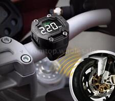 Steelmate LCD Motorcycle TPMS Tire Pressure Monitoring System 2 Sensor Kit