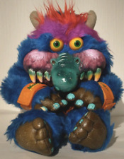 """AmToy My Pet Monster 24"""" Plush Stuffed Animal Toy, Vintage 1986 With Handcuffs!"""