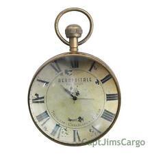 "Aeronautical Pocket Travel Desk Clock Brass 4.5"" Bronze Finish Aviation Decor"