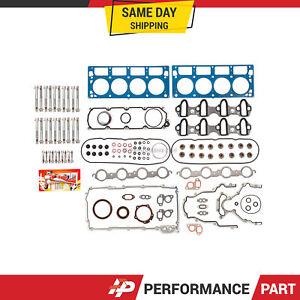 Full Gasket Set Head Bolts for Chevrolet Express GMC Savana Sierra Yukon 4.8 5.3