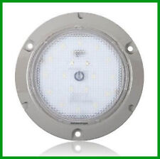 """Interior Dome Light 24 LED White Surface Mount 5.5"""" Round Touch Switch"""