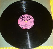 Frank Davis - The Lonesome Road & Somebody Bigger Than You Or I / Decca Promo 78