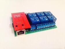 Controlador de relé Atmega 328 Ethernet, controlador de relé UDP, domótica, PLC,