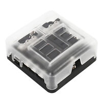 6 Way Blade Fuse Box Holder Block protection For Car Boat Marine Auto Overload