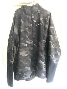 Simms Katafront Hoodie Jacket Men's 3XL Hex Flo Camo Carbon