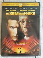 The Sum of All Fears DVD 2002 Widescreen Rated PG-13 Action Drama Movie