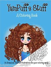 YamPuff Stuff Adult Colouring Book Cute Kawaii Anime Manga Girls Marmaid Fairy