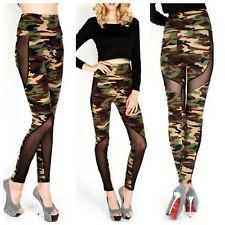 Mesh Camouflage Camo Leggings One Size Yoga Sports Fitness