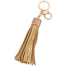 Women Leather Tassel Keychain Purse Bag Buckle HandBag Pendant Keyring Jewelry&
