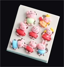Silicone Peppa Pig Funny Mould Mold Cake Candy Fondant Sugarcraft Sugar Soap