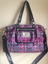 Coach Poppy Tartan Satchel/Shoulder Bag #14367