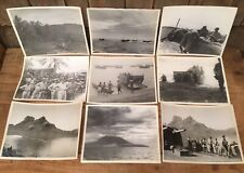 Vintage Collection Of 9 WWII 1944 U.S.N. Amphibious Operations New Guinea Photos