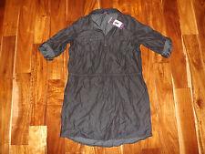 NWT Womens Gloria Vanderbilt Black Wash Ashleigh Dress Shirt Blouse Size XS
