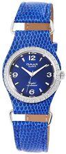 Omax Women's Quartz Watch Blue Silver Analogue Metal Leather G-60463612486600