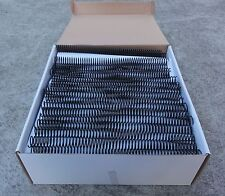 18mm Plastic Binding Spiral Coils - 52 Loops Box of 100 - Black