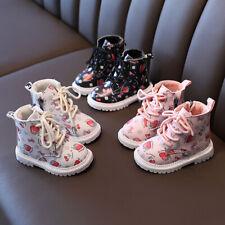 Baby Toddler Girls Boots Shoes Casual Winter Children kids Walk Snow Zip Boots