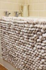 PEBBLES NATURAL BEIGE REVERSIBLE CHUNKY  HEAVY  RUG  BATH MAT 50cm x 80cm