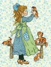 Cross Stitch Kit - DMC 14 count -  Sarah Kay - Misbehaving