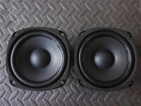 "NEW (2) 4.5"" Woofer Speakers.Full Range.Pair.8 ohm.four half inch Pin Cushion."