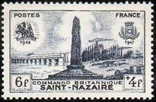 "FRANCE TIMBRE STAMP N°786 ""DEBARQUEMENT BRITANNIQUE, SAINT-NAZAIRE"" NEUF X TB"