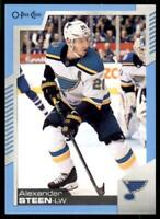 2020-21 UD O-Pee-Chee Blue Border #221 Alexander Steen - St. Louis Blues