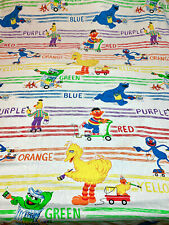 Vintage Muppets Sesame Street Colors Twin Sheet - Flat
