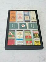 Texaco & Caltex Matchbook Covers with Display Case