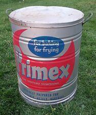 VINTAGE PRIMEX SHORTENING CAN 110 LB. ADVERTISING TIN