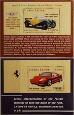 SIERRA LEONE 2001 Block 514-15 Bentley Ferrari Classic Cars Sports Car Autos MNH