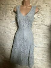 laura ashley grey lace party cocktail dress  size 12